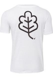 Camiseta Masculina Eco Flor - Branco