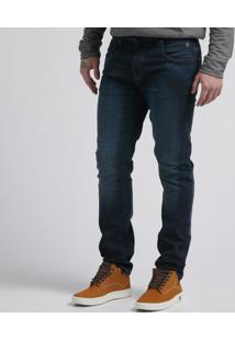 Calça Jeans Spray Sweat Dark Slim
