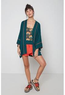 Kimono Oh,Boy! Color Feminina - Feminino-Verde