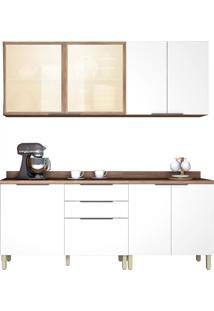 Cozinha Donna 4 Peças Nogal/Branco Nesher