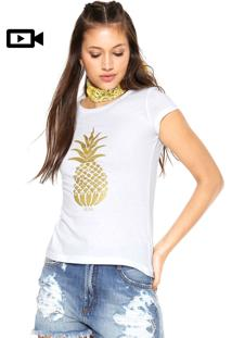 Camiseta Nica Tropical Branca