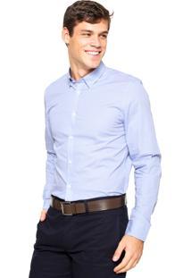 Camisa Lacoste Quadriculada Azul