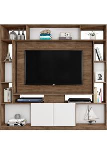 Estante Home Painel Para Tv Atã© 55 Pol. Divisor De Ambientes Duo Avelã£/Cinza Cristal/Preto Mã³Veis Leã£O - Multicolorido - Dafiti