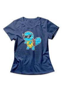 Camiseta Feminina Squirtle Azul