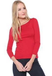 Blusa Cativa Canelada Vermelha