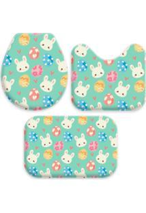 Jogo Tapetes Love Decor Para Banheiro Cute Easter Único