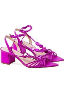 Sandália Saltare Charlotte Low Feminina - Feminino-Pink