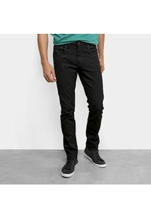 Calça Jeans Slim Calvin Klein Color Five Pockets Masculina - Masculino-Preto