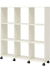 Estante Colmeia Vazado Cor Off White Com Brilho - 56308 - Sun House