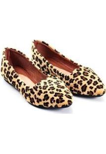 Sapatilha Mizzi Shoes Slipper Rasteira Animal Print Feminina - Feminino-Preto+Amarelo