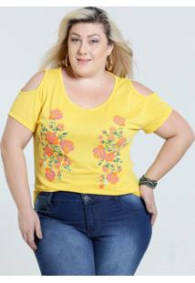 6fd0745f0 Ir para a loja  Blusa Feminina Plus Size Open Shoulder Marisa
