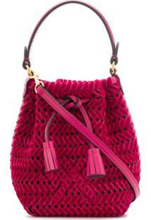 Anya Hindmarch Woven Design Shoulder Bag - Rosa