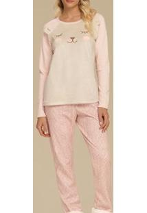 Pijama Feminino Cor Com Amor - Feminino-Rosa