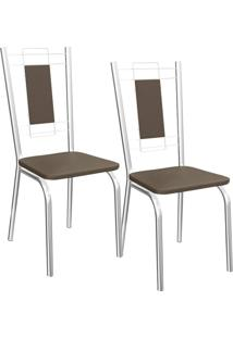 Kit 2 Cadeiras Florença - Kappesberg - Marrom