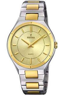 ... Relógio Festina Feminino Aço Prateado E Dourado - F20245 2 840489af71