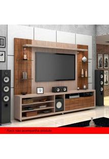 Painel Para Tv 50 Polegadas Atenas Santana E Ameixa Negra 200 Cm