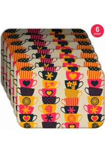 Jogo Americano Love Decor Wevans Xíraca Colorida Kit Com 6 Pçs