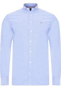 Camisa Masculina Basic Oxford - Azul