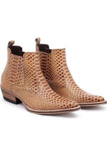Bota Top Franca Shoes Country Masculino - Masculino-Marrom