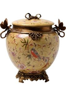 Vaso Decorativo De Porcelana Nature