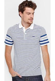 Camisa Polo Lacoste Piquet Listras Regular Fit Croco Shade Masculina - Masculino