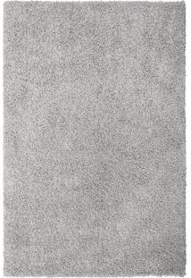 Tapete Clemant Retangular Shaggy (200X250 Cm) Prata