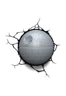 Luminária De Parede - 3D - Disney - Star Wars - Episódio Vii - Estrela Da Morte - Beek Geeks