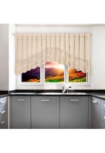 Cortina Cascata Portuguesa Marfim Provence 3,00M X 1,00M ÚNico - Multicolorido - Dafiti