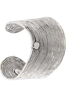 Gas Bijoux Bracelete 'Wave' Banhado A Prata - Metálico