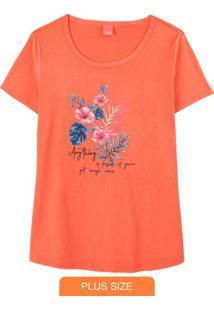 Blusa Estampado Anything Floral Em Malha