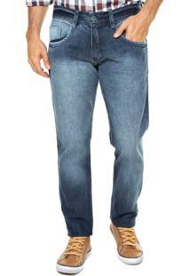 Calça Jeans Biotipo Slim Fit Simples Azul