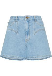 Nanushka Bermuda Jeans 'Rasa' - Azul