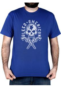 Camiseta Bleed American Skull Walker Royal