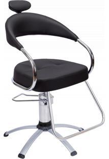 Cadeira Salao Beleza Dompel Futura 3700 Hpa Ii Pt Aluminio