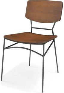 Cadeira Beaver Cor Rustic Brown Com Base Aco Grafite - 46010 - Sun House