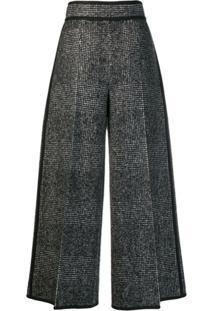 Dsquared2 Calça Pantalona Xadrez - Preto