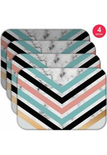 Jogo Americano Love Decor Wevans Geometric Marble Kit Com 4 Pçs