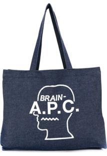 A.P.C. Brain Print Tote - Azul