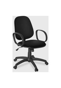 Cadeira Gerente Giratória Braço Corsa Pr Preta
