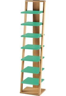 Estante Prateleira Suspensa Stairway Maxima Palha/Verde Anis