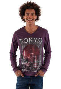 Camiseta Konciny Estampada Violeta