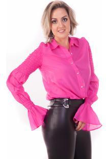 Camisa Fernanda Kleis Isabelle Pink