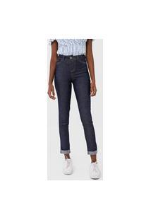 Calça Jeans Grifle Company Slim Pespontos Azul-Marinho