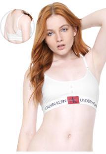 Top Calvin Klein Underwear Monogram Branco