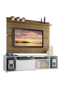Rack Madesa Cancun E Painel Para Tv Até 65 Polegadas Branco/Rustic Branco