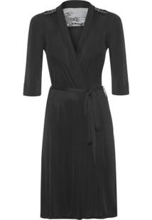Robe Maternity Loungerie – Preto