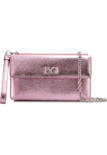 Dolce & Gabbana Bolsa Tiracolo Dg Millennials De Couro - Rosa
