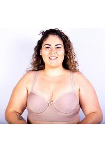 Sutiã Plus Size Jam Lingerie Bojo Gatria Reforçado Feminino - Feminino-Bege