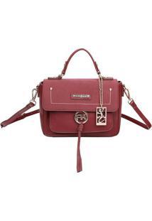 Bolsa Transversal Com Bag Charm - Vinho - 20X26X11Cmfellipe Krein