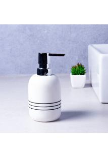 Porta Sabonete Líquido Lines Branco Coisas E Coisinhas